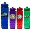 Custom 24 oz. Poly-Saver PET Bottle with Push 'n Pull Cap, Full Color Digital
