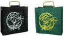 Custom All Natural Trade Show Bag with Cane Handles (16