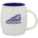 Custom 15 Oz. Puget Mug (Matte white out country blue in)