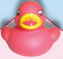 Custom Little Red Rubber Duck, 2 1/4