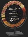 Custom Autumn Colors Round Acrylic Award S, 13 3/4