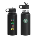 Custom Summit 32oz Double Wall Vacuum Insulated 18/8 Stainless Steel Bottle