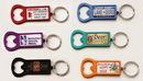 Custom Rectangle Anodized Aluminum Bottle Opener Key Tag With Digital Emblem