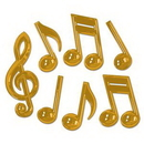 Custom Gold Plastic Musical Notes, 13