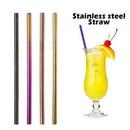 Custom Straight Metal Straws, 10.5 Inch Length, 0.25 Inch Diameter, 266*6 MM 0.25 Inch Diameter, 266*6 MM, 0.25