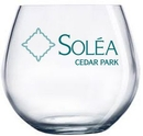 Custom 16 oz. Allure Sheer Rim Stemless Wine Glass, 2.8