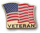 Blank Stock Veteran Us Flag Lapel Pin