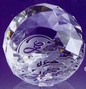 Custom Small Crystal Dome Paper Weight (1-1/2