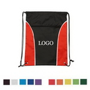 Custom Two Tone Drawstring Pack With Zipper, 14