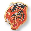 Custom Tiger Mascot EM Series Pin