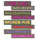 Custom 80's Street Sign Cutouts