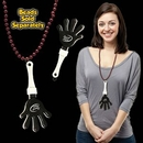Custom Black & White Hand Clapper W/ Attached J Hook, 7