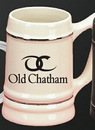 Custom 24 Oz. 2 Tone Beer Mug w/ 2 Silver Band Accent (Individually Boxed)