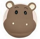Custom Rubber Hippo Accessory Guardian, 1 3/4