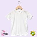 Custom White Toddler Cap Sleeve Girls T-Shirt w/Scallop Trim