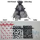 Custom Felt Printed Organza Pouch (Zebra Design), 3