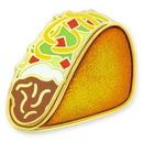 Custom Taco Lapel Pin, 3/4