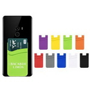 Custom Double Layer Silicone Phone Wallets, 3.38
