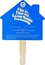Custom House Stock Shaped Hand Fan
