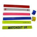 Custom Full Color PVC Reflective Slap Wristband, 12