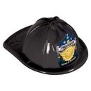 Custom Black Plastic Jr Firefighter Hats (CLEARANCE)