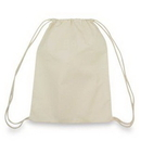 Custom Natural Cotton Canvas Drawstring Backpack
