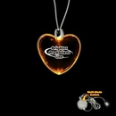 Custom Amber Yellow Heart Light Up Pendants