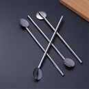 Custom 2 in 1 Metal Straws With Spoon, Mixing Spoon Straw, 0.25