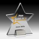 Star Award w/ Chrome Base - Laser Engraved