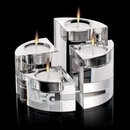 Custom Saks Crystal Candle Holder Set of 4, 1 3/4