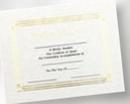 Custom Foil Embossed Stock Certificate (Award), 8 1/2