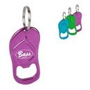 Custom Sandal Shaped Bottle Opener Keychain, 2.6