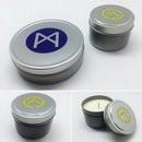 Custom 4 oz - Hand-Mixed-Poured 100 percent Renewable Soy Wax Candle in Travel Tin, 1.75