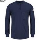 Custom Long Sleeve Tagless Henley Shirt-Excel FR