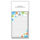 Blank Self-Adhesive Add-On Business Card Magnet + Polka Dots Pad, 3 1/2