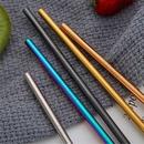 Custom Colorful Straight Metal Straws, 8.5 Inch Length, 0.25 Inch Diameter, 215*6 MM, 0.25