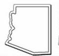 Custom Arizona Notekeeper Magnet- 20 Mil Process Color (2-3/8