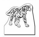 Custom Tiger Notekeeper Magnet- 20 Mil Process Color (4