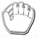 Custom Baseball Glove Notekeeper Magnet- 35 Mil Process Color (3