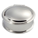 Custom Silver Plated Oval Bead Box
