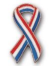 Custom Cutout Patriotic Ribbon Stock Pin