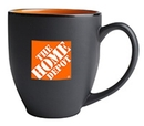 Custom 16 Oz., Hilo Bistro Mug (Matte Black/Orange)