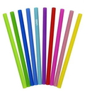 Custom Reusable Silicone Drinking Straw, 9.8