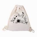 Custom Cotton Canvas Drawstring Bag- Backpacks, 13 8/10