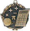 Custom Sculptured Math Medal 1.75