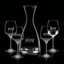 Custom Barham Carafe & 4 Wine
