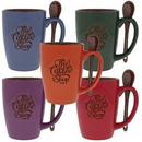 Custom Cocoa Spoon 16 Oz. Mugs, 3 375