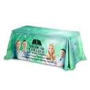 Custom 3-Sided Throw Style Table Covers Full Color Dye Sublimation Imprint - Fits 6 Foot Table, 72