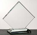 Custom Clipped Square Award w/ Base - Starfire Glass (7 1/2