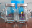 4.5 oz Mini clear Glass Mason jars